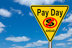 Pay Day Warning Sign