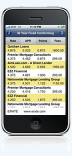 iphone APP from ERATE -  Mortgage Rates